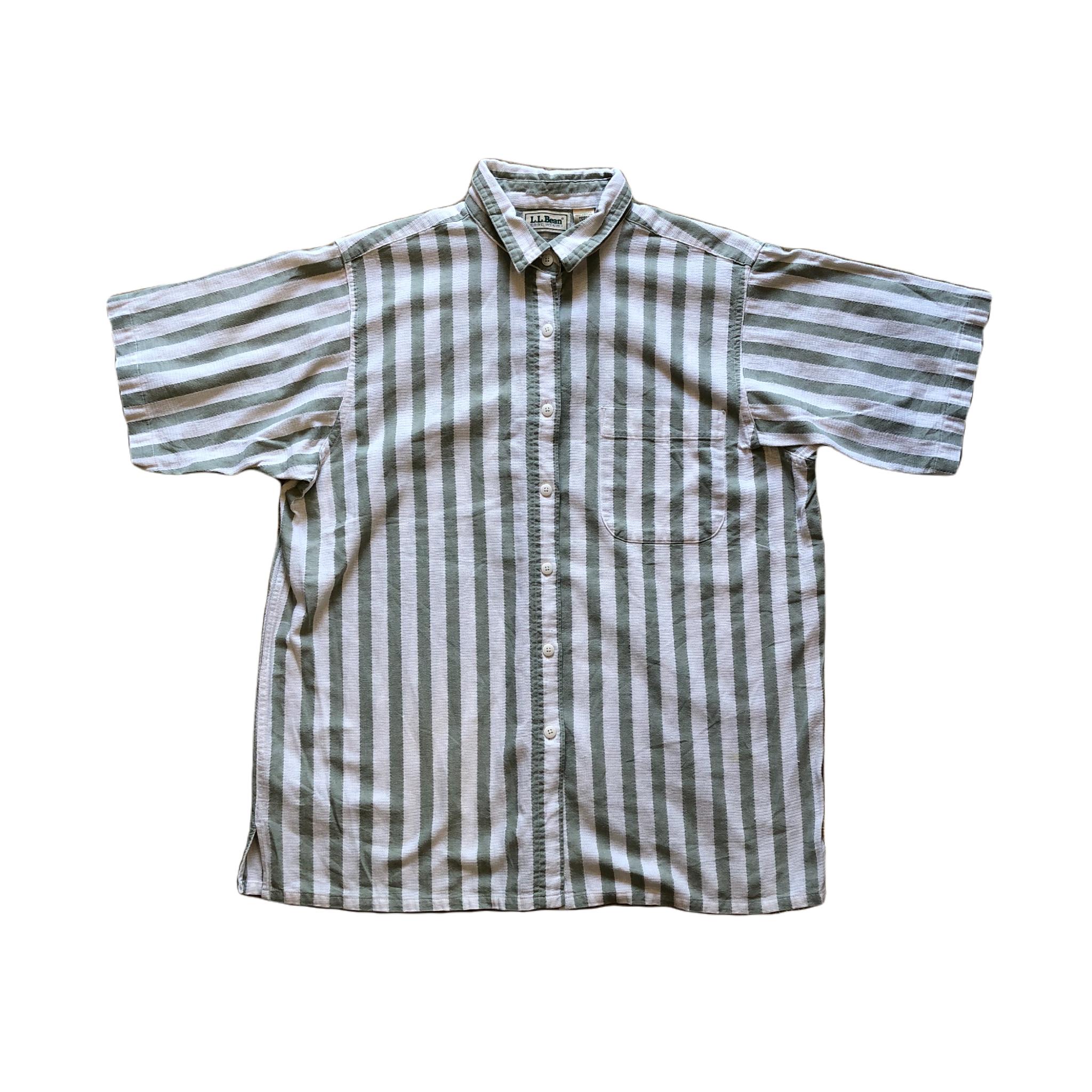 LLBean Stripe S/S Shirts ¥5,800+tax