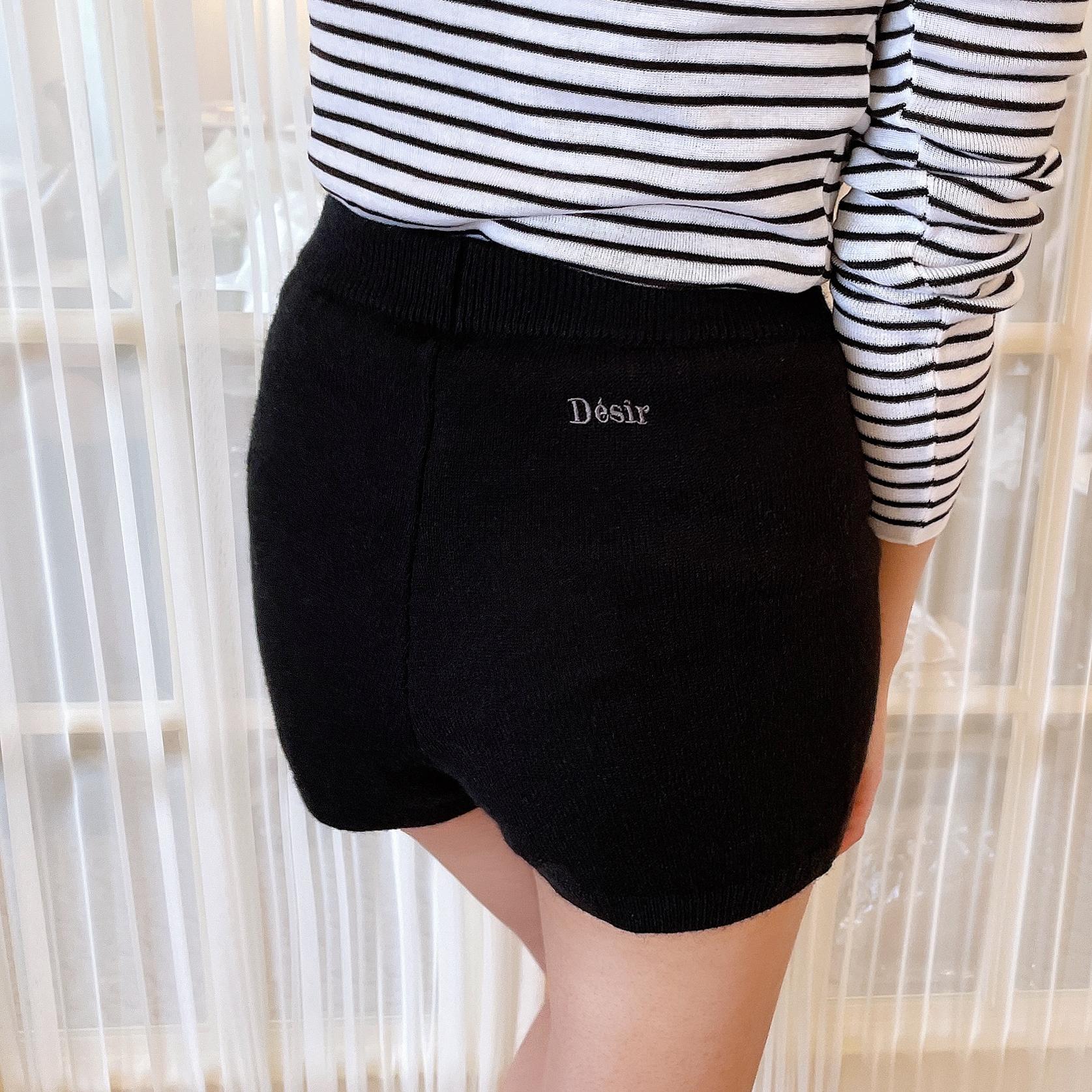 【Désir original】logo knit pants