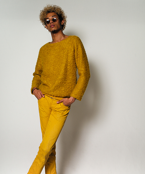 16WT-IR01M MOHAIR KNIT-men's (yellow)