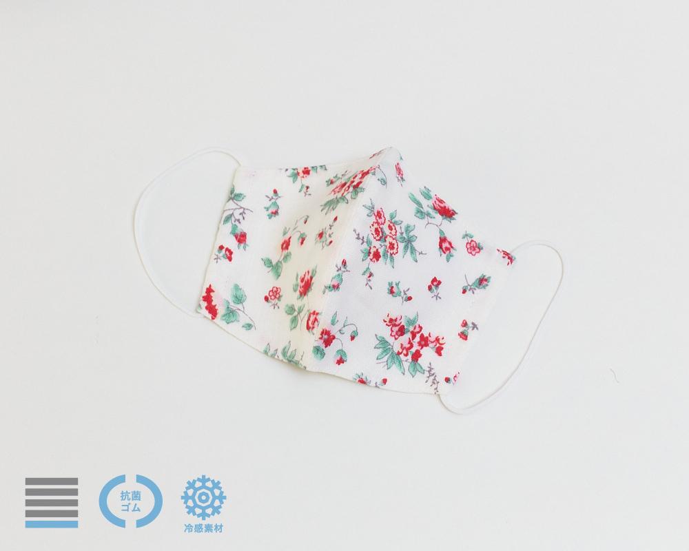 スタンダードマスク|リネン サマーフラワーレッド【R】