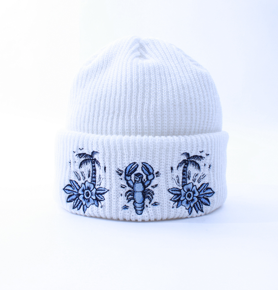 【SON OF THE CHEESE】SERGIO MORA KNIT CAP(WHITE)