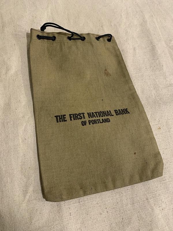 """BANK BAG """" THE FIRST BANK OF OREGON #2 """""""