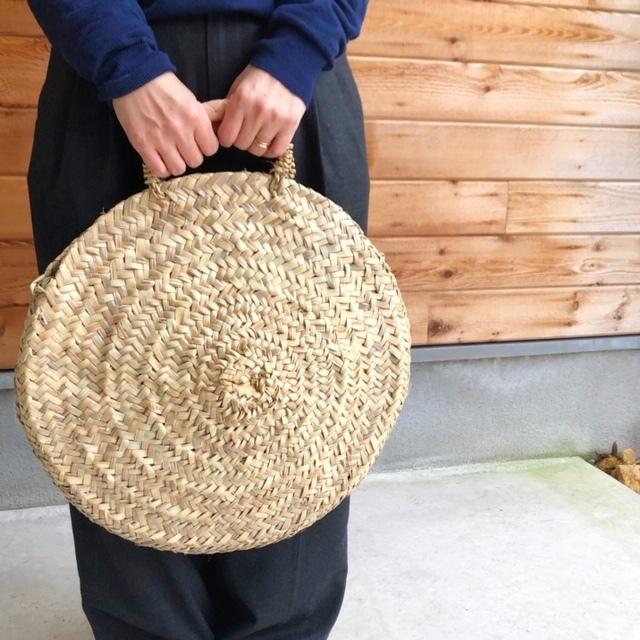 モロッコ サークルバスケット 丸かごφ45cm
