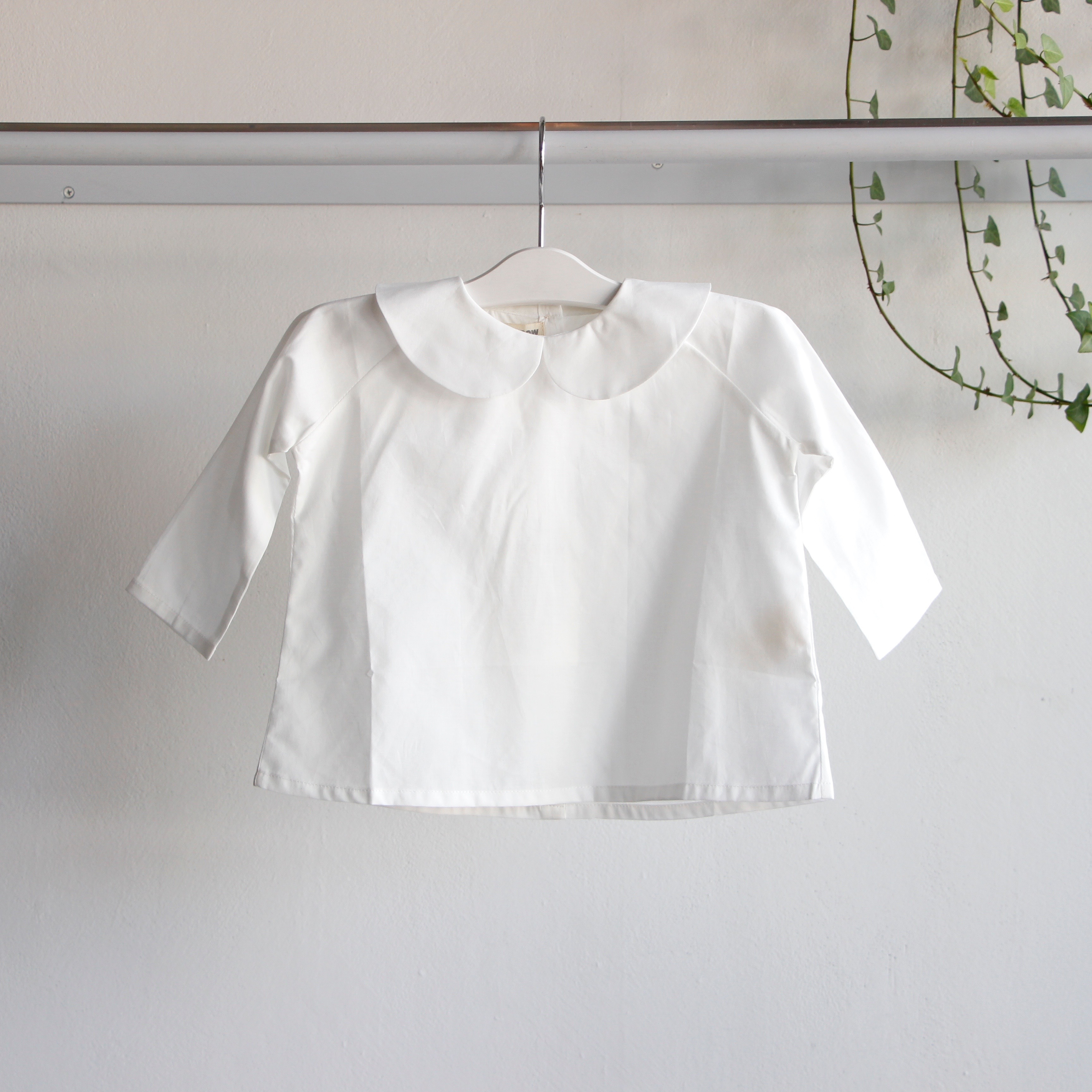 《AS WE GROW 2019AW》Peter Pan shirt long sleeve / white