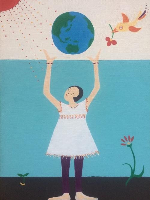 ポストカード「Pray for the world l」