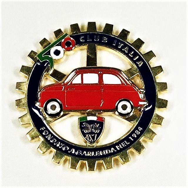 FIAT 500 CLUB ITALIA Emblema della griglia【1セットのみ】【税込価格】