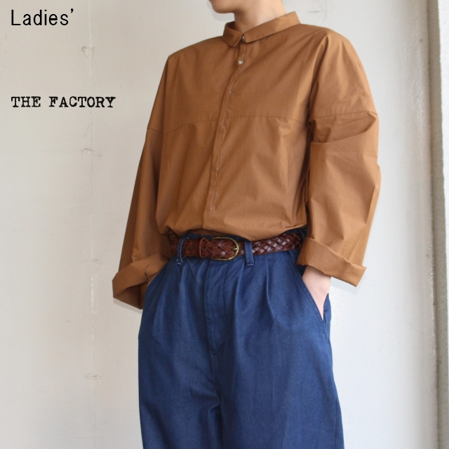 THE FACTORY ビッグスリーブシャツ (BROWN)