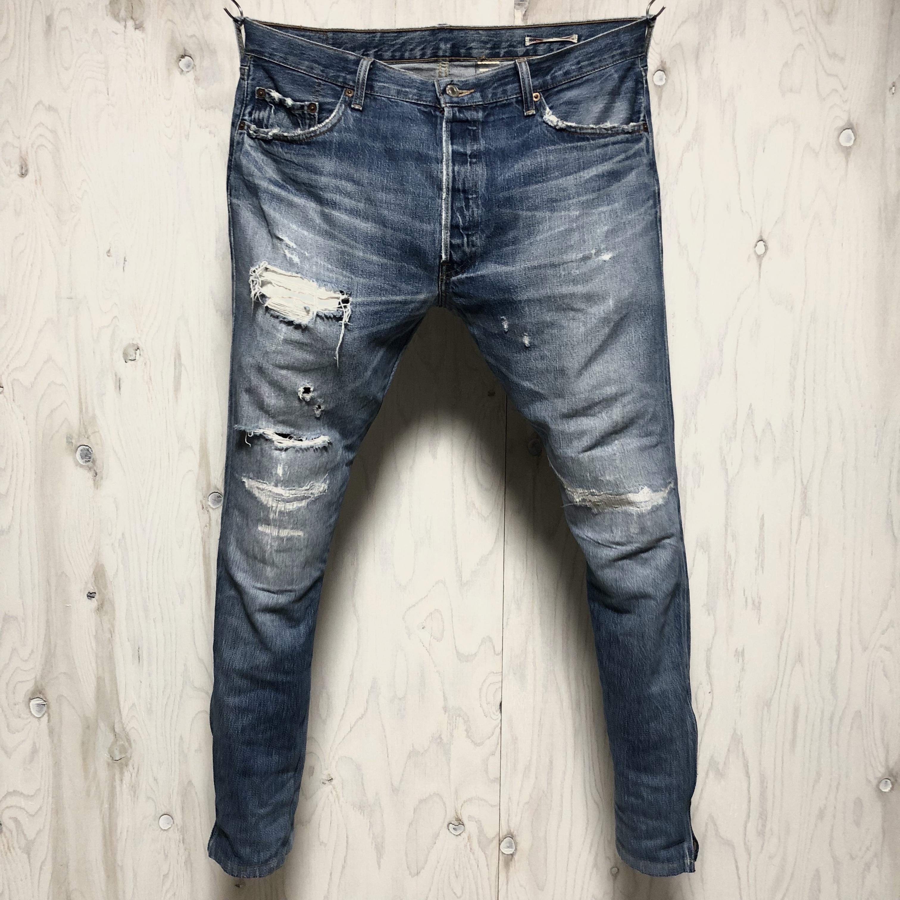 Levi's 501 crash&riri zip custom w37