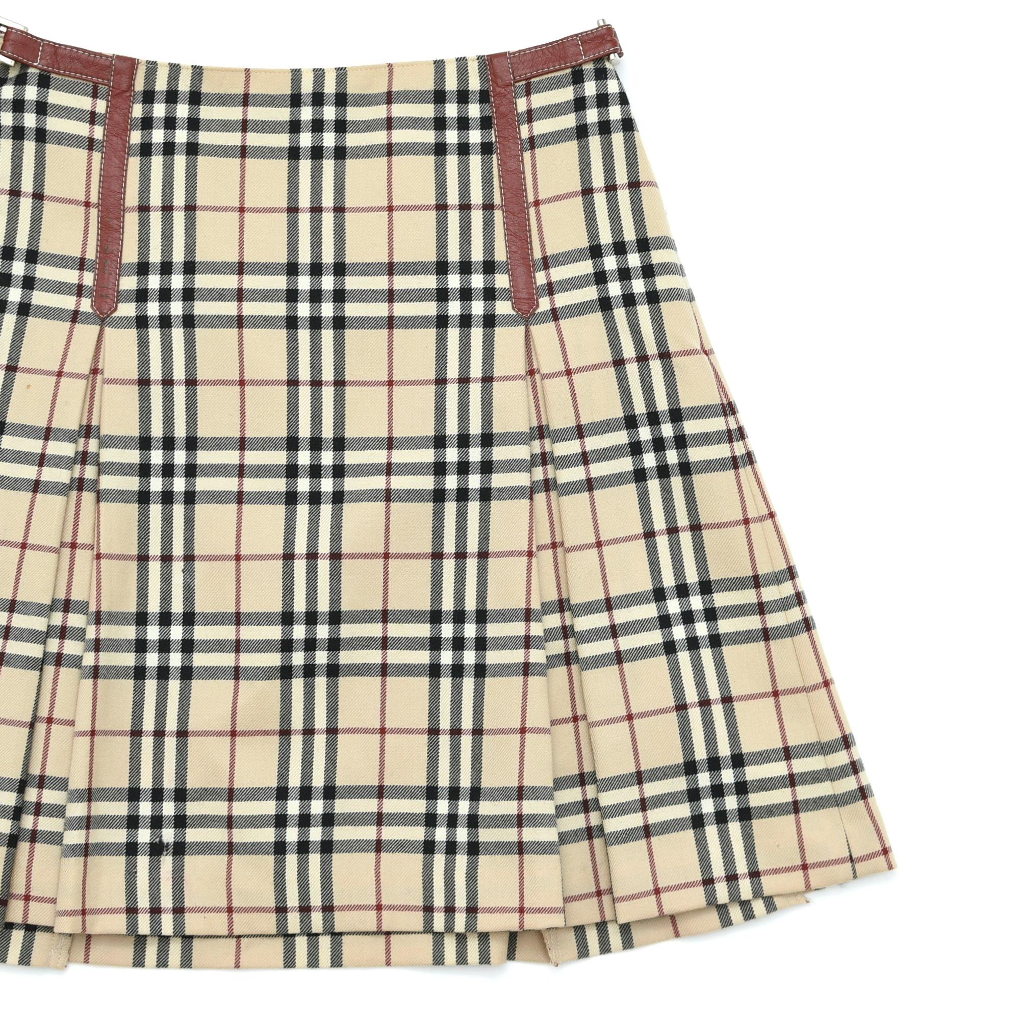BURBERRY BLUE LABEL Nova check mini skirt