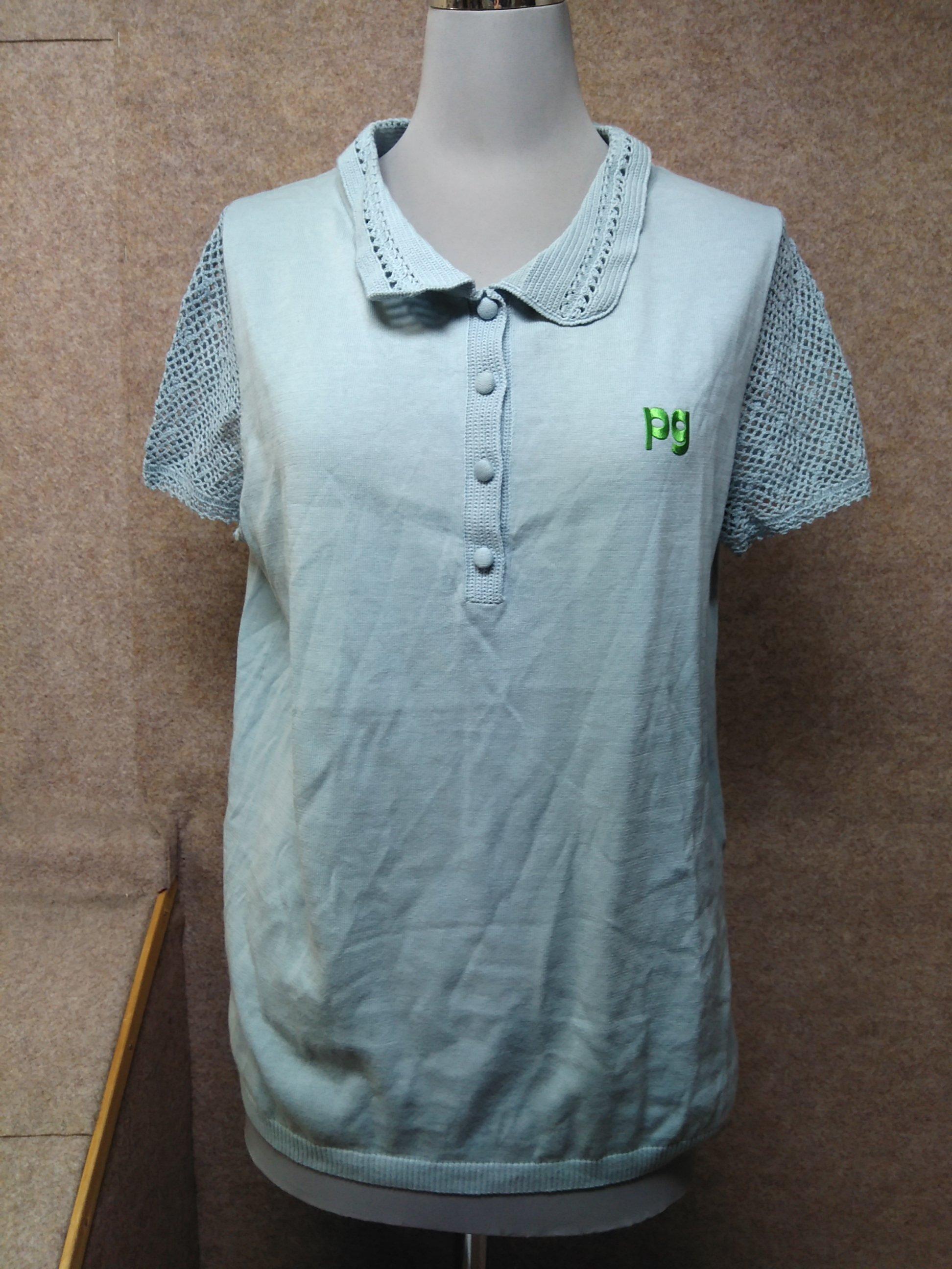 パーリーゲイツ 襟袖レース ニット ポロシャツ サイズ1 mu536e