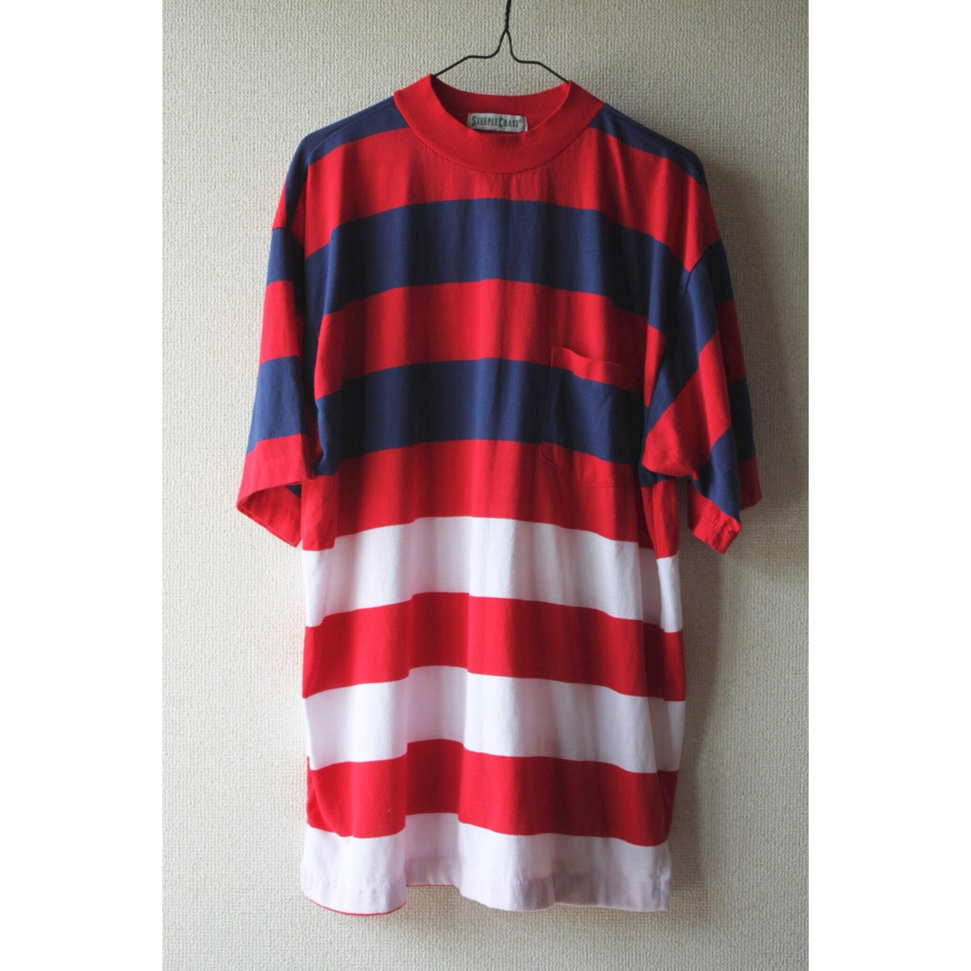 Vintage border pocket t shirt