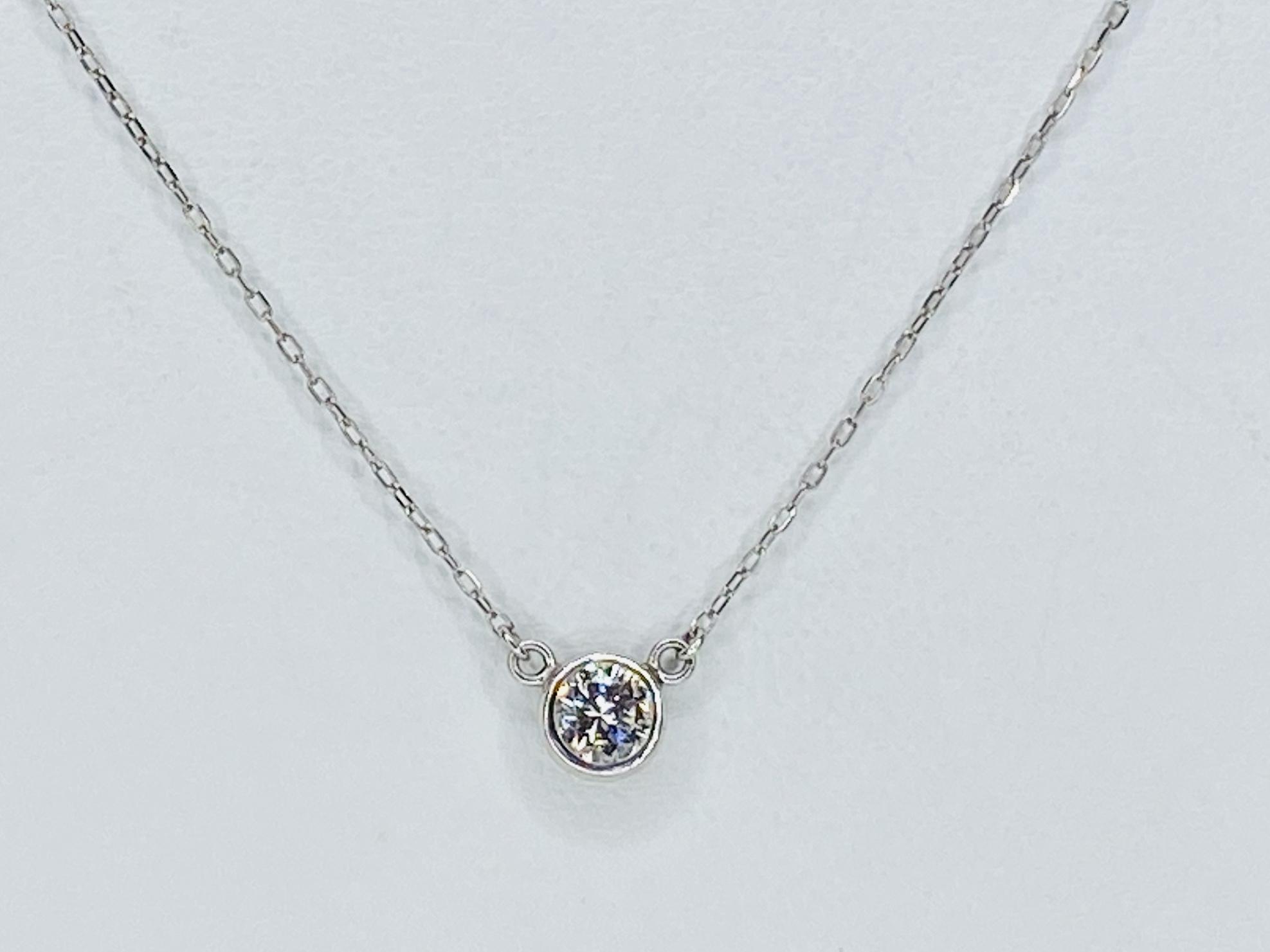PT900/850 0.259ctダイヤモンドネックレス ○