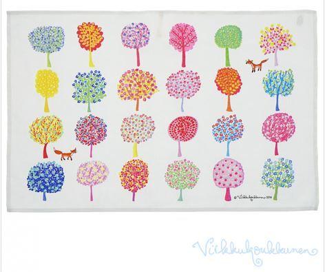 カラフルな木々  ティータオル / Virkkukoukunen ヴィルクコックネン / フィンランド