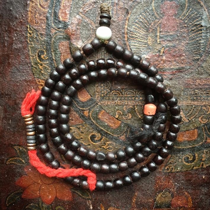 紫檀の数珠 ラダックスタイル
