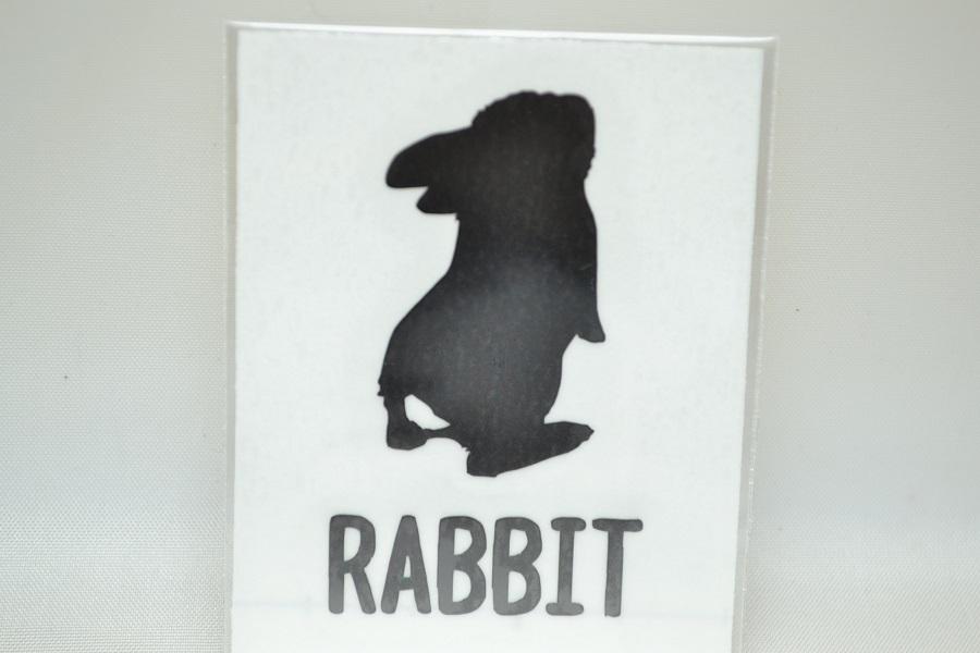 ステッカー小 RABBIT