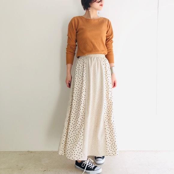 【 Valance Select 】パネルドットロングスカート