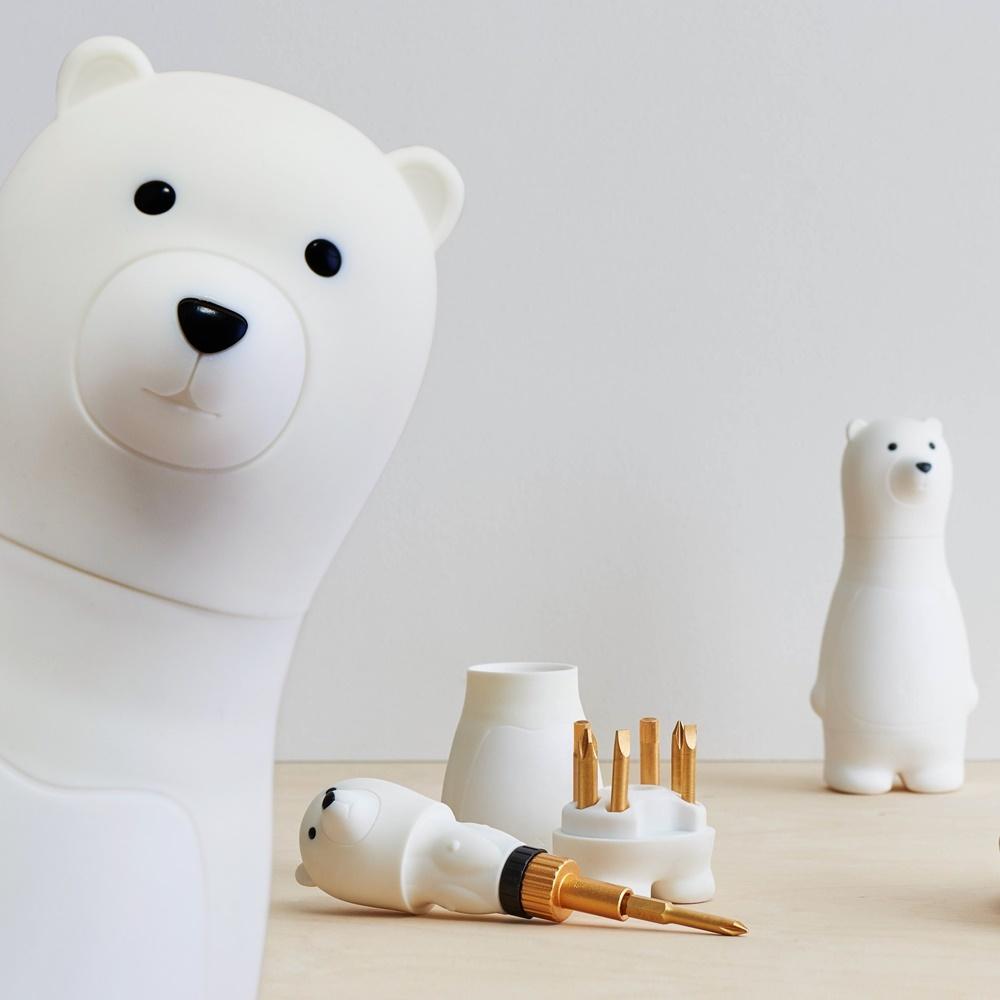 クマさんのラチェットドライバーセット(ホワイト)スペシャルエディション (A00001)