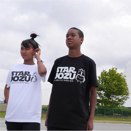 STAR UOZU & ミラたん コラボTシャツ ブラック