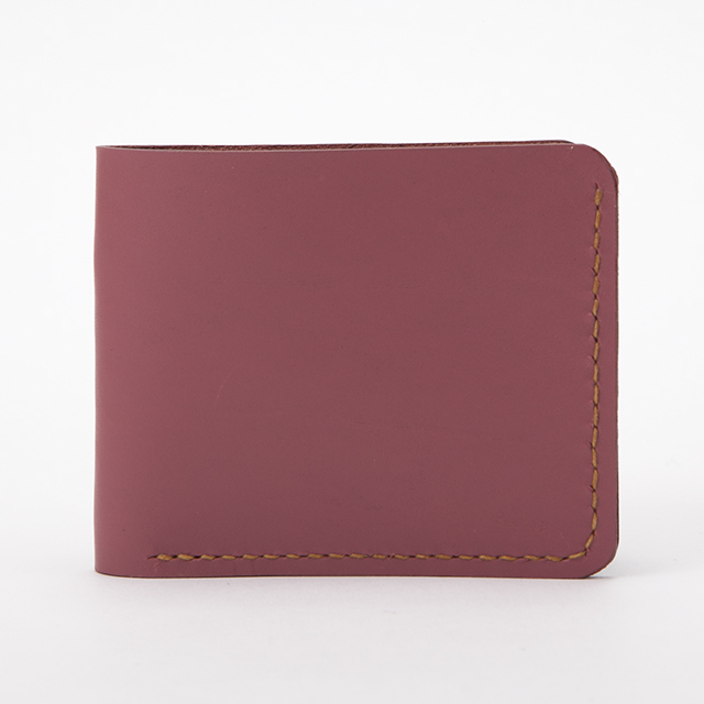 enos革二つ折り財布・ピンク
