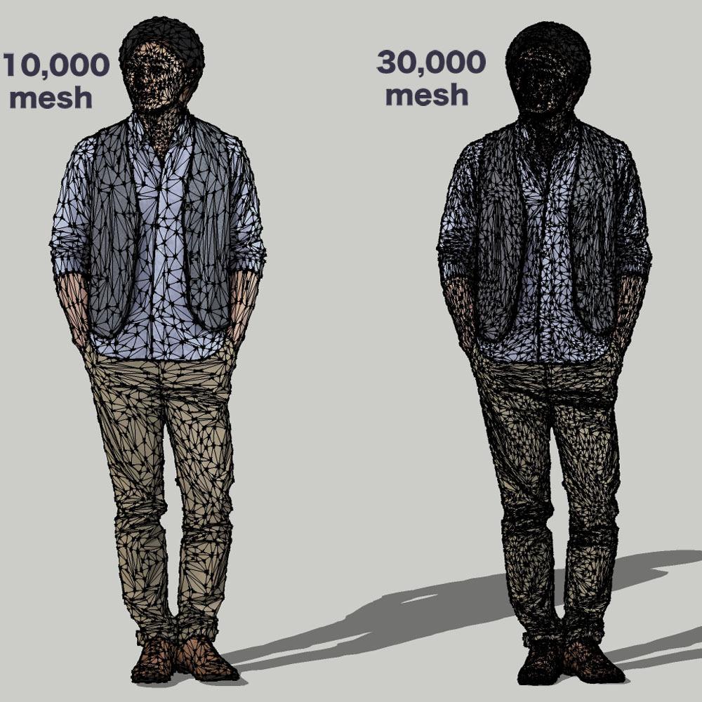 SketchUp素材 3D人物モデル ( Posed ) 069_Syun - 画像3