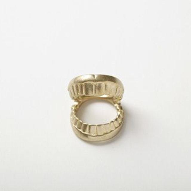 【Aquvii アクビ】 バイト 歯形 リング 指輪  (Bite Ring)