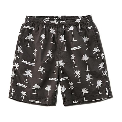 STANDARD CALIFORNIA #SD Palm Tree Shorts Fabric Designed by Jeff Canham Black