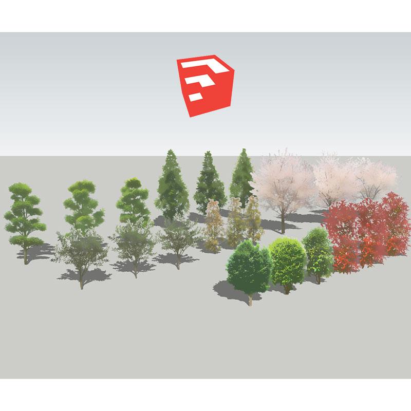 樹木イラストSketchUp 4b_004 - 画像1