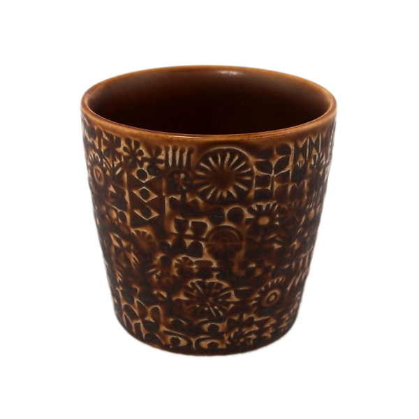 BIRDS' WORDS Patterned Cup smoke brown