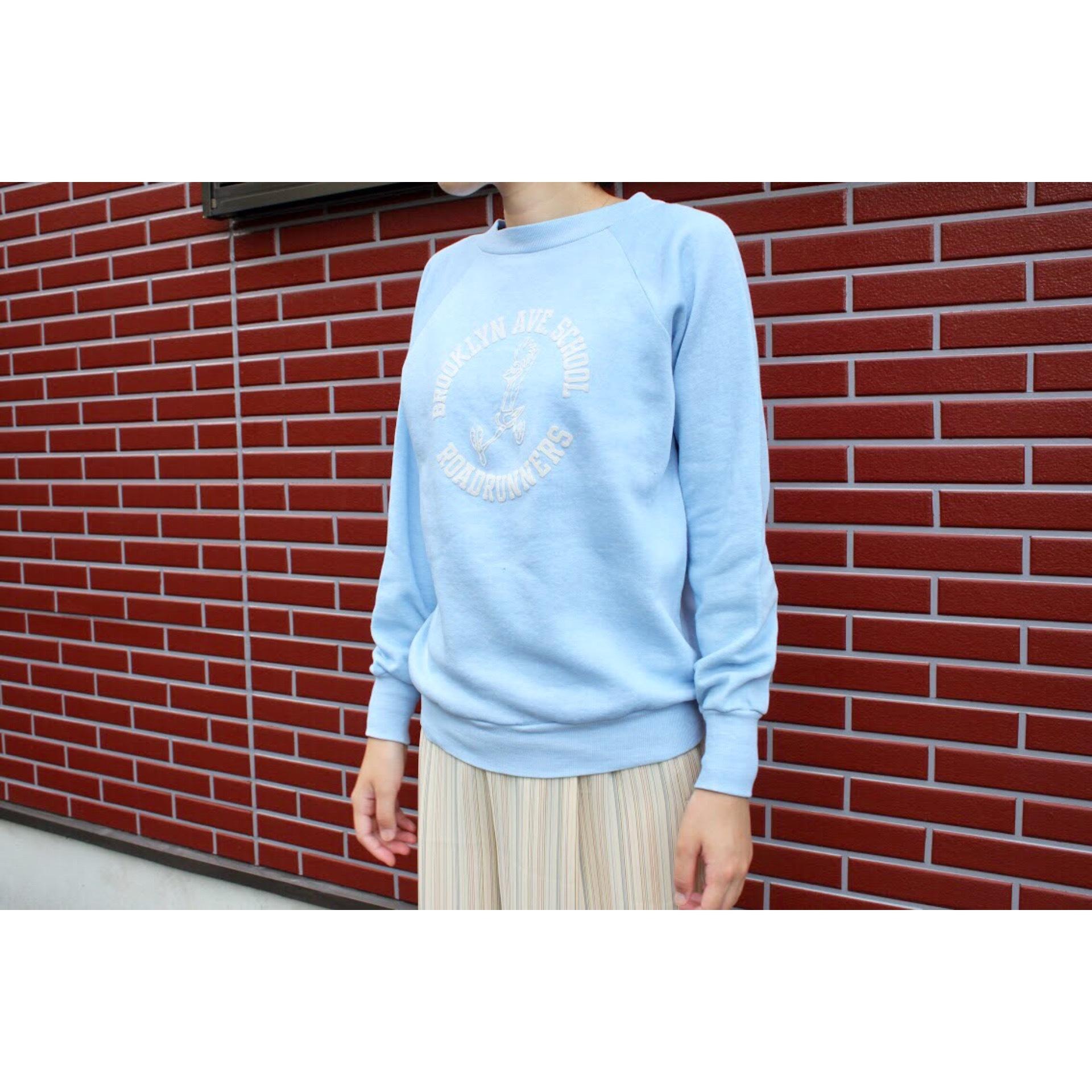 Vintage flock print sweater