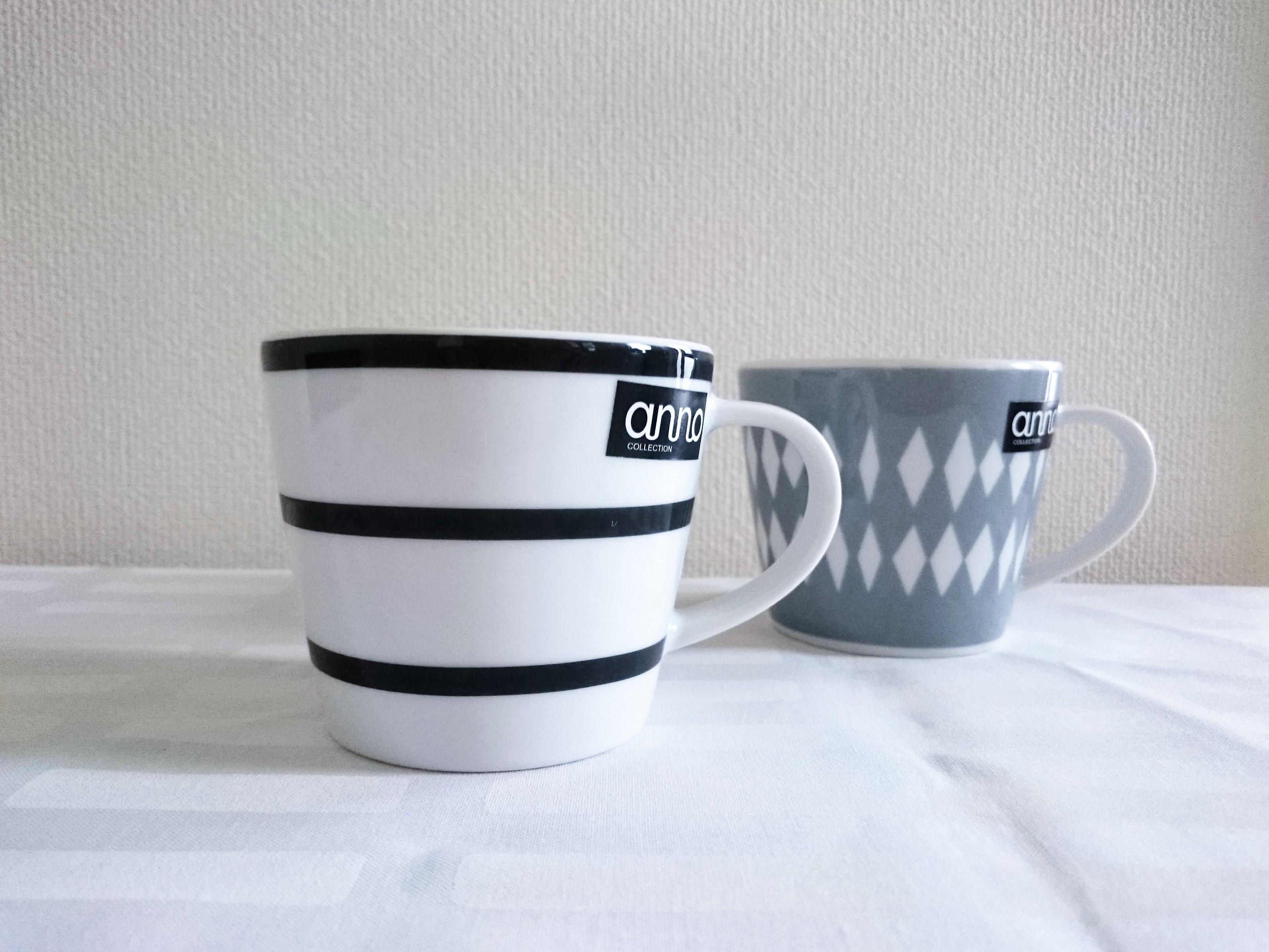 マグカップ / anno / ストライプ・グレー