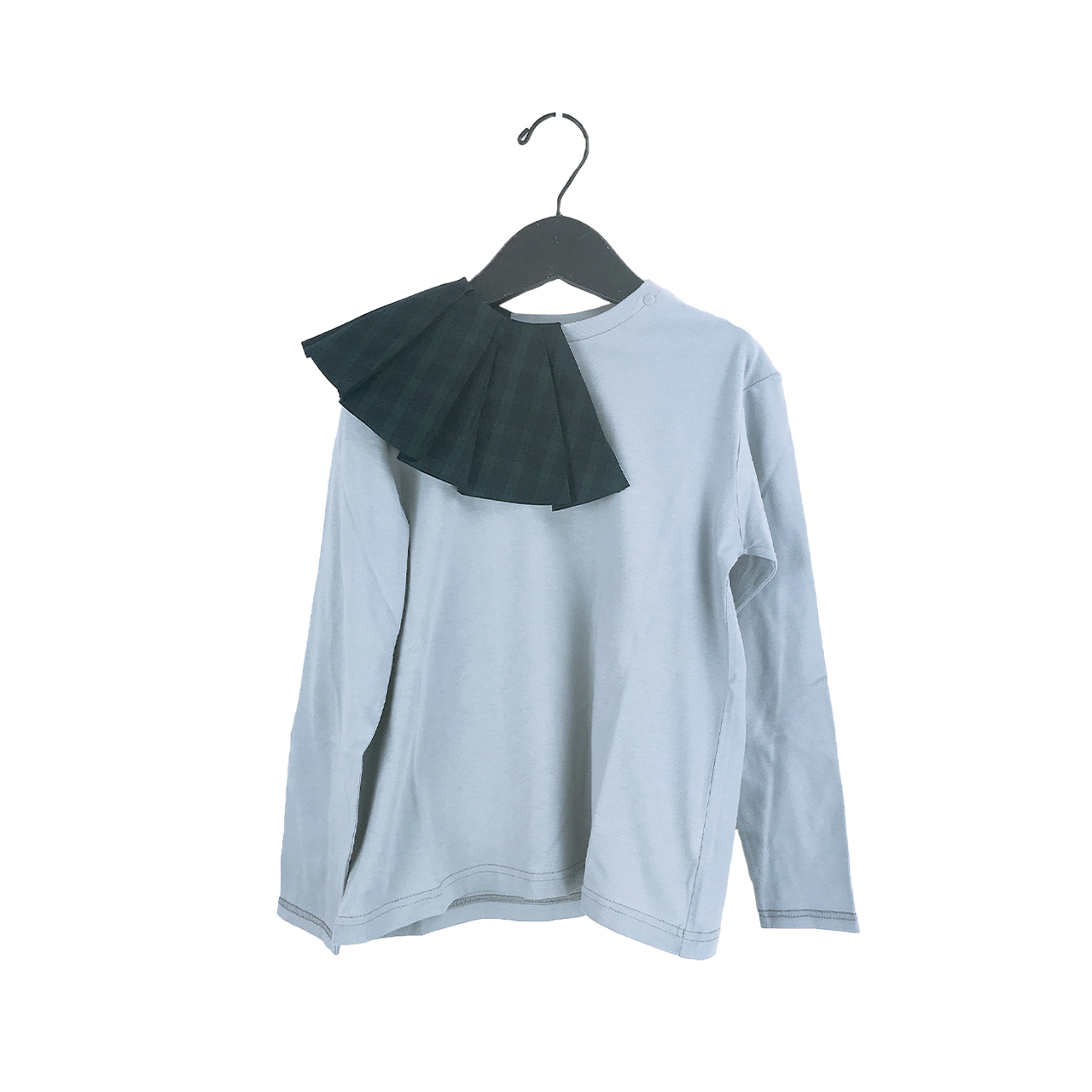REMOVABLE PLEATS COLLAR L/S TEE / LL