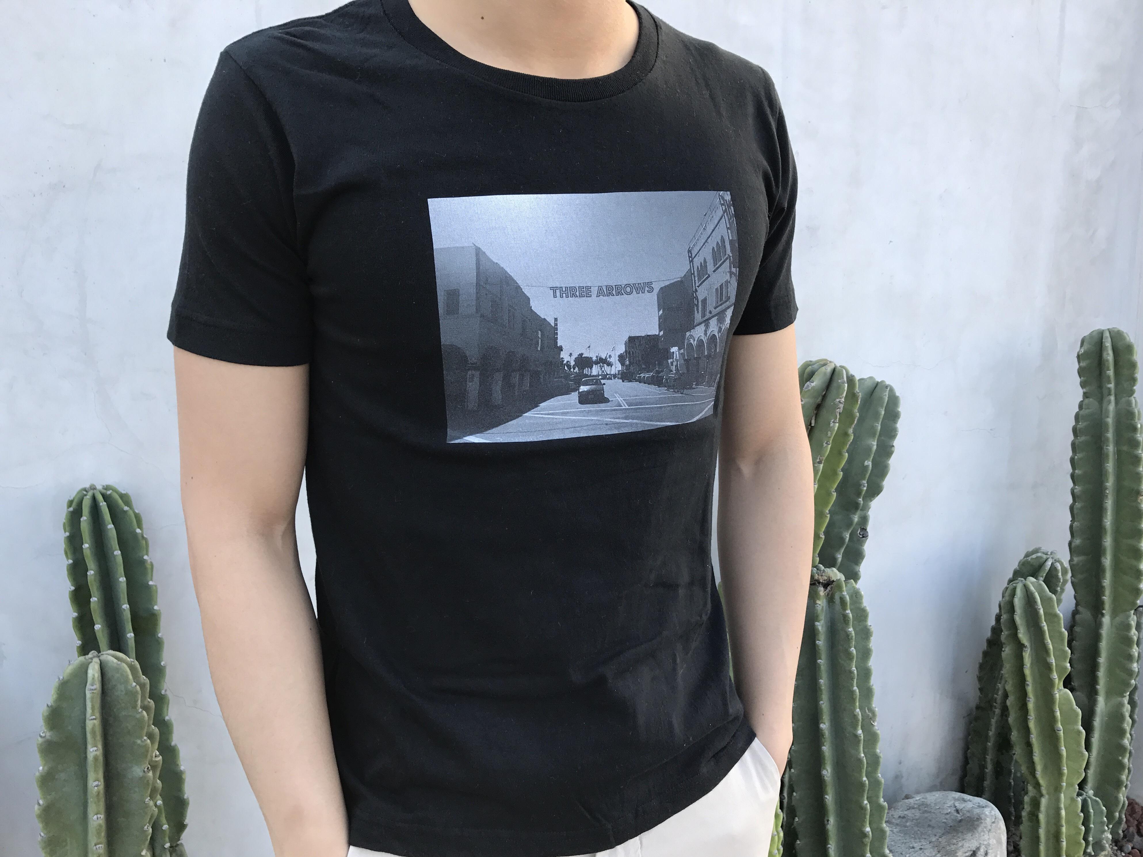 THREEARROWS VENICEフォト Tシャツ (black)