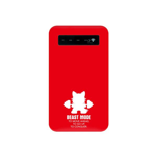 【BEASTMODE 】携帯充電器 バーベルチワワ シルエット