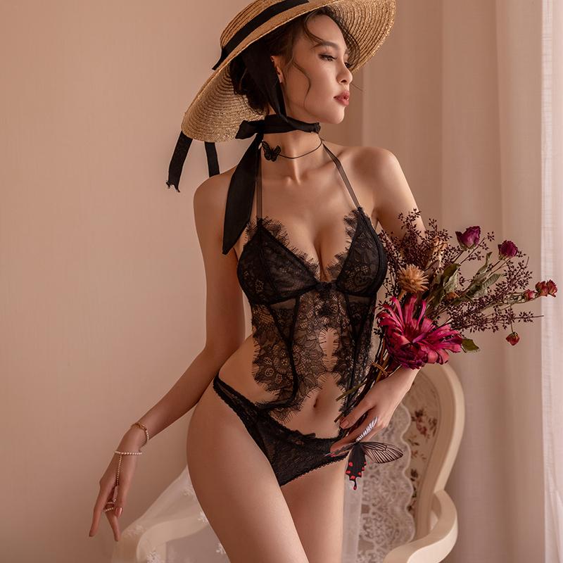【ルームウェア・パジャマ】美人度アップ透かし彫りレース セクシーランジェリー21042431