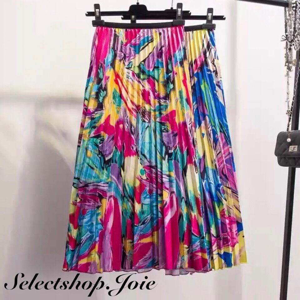 【Blue即発送】ハイストリートカラー ロングスカート 2色展開