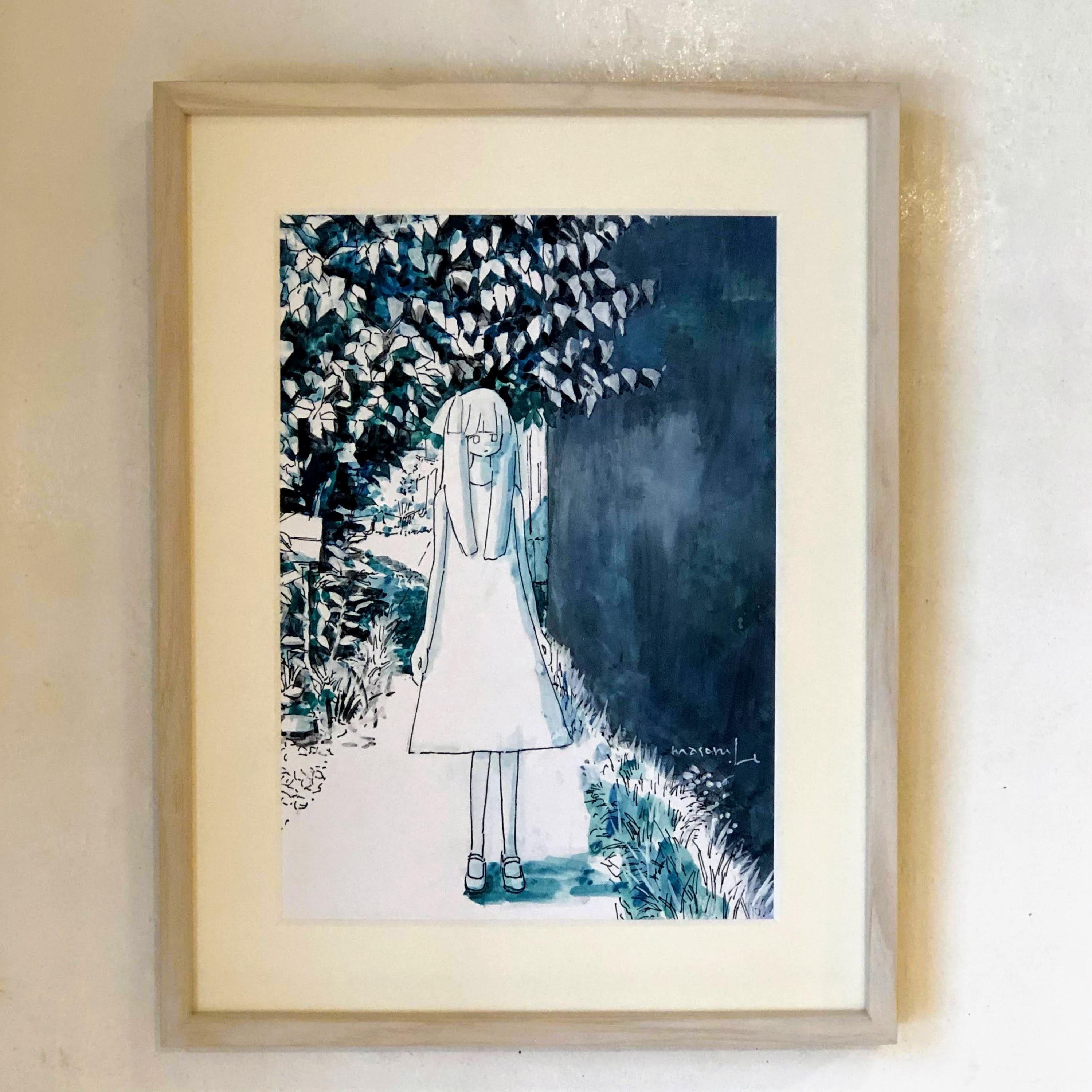イノウエマサル(井ノ上豪)「照り続ける中の散歩」