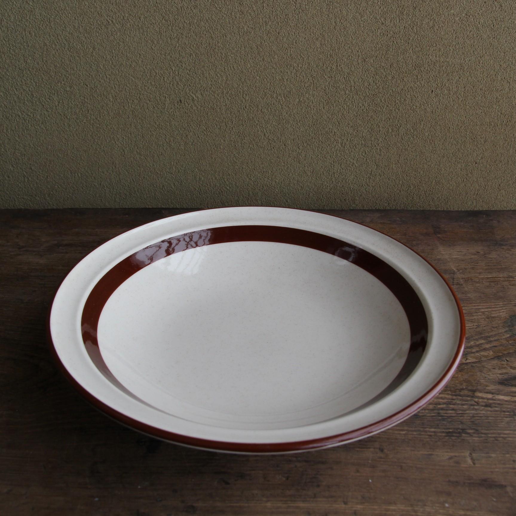 ロジエ ブラウンライン カレー皿