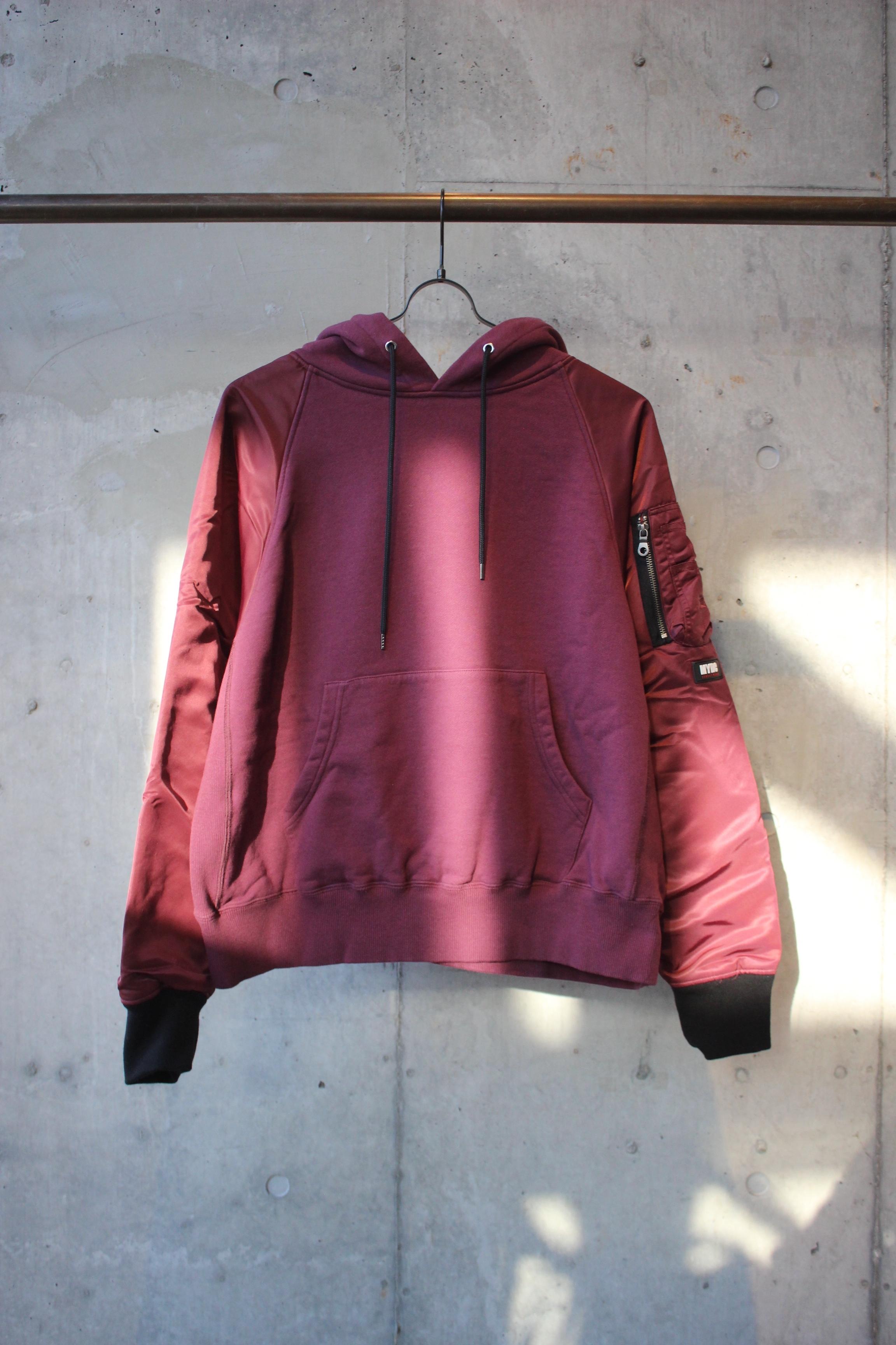 【別注限定カラー】MA-1 hoodie / BORDEAUX - 画像1