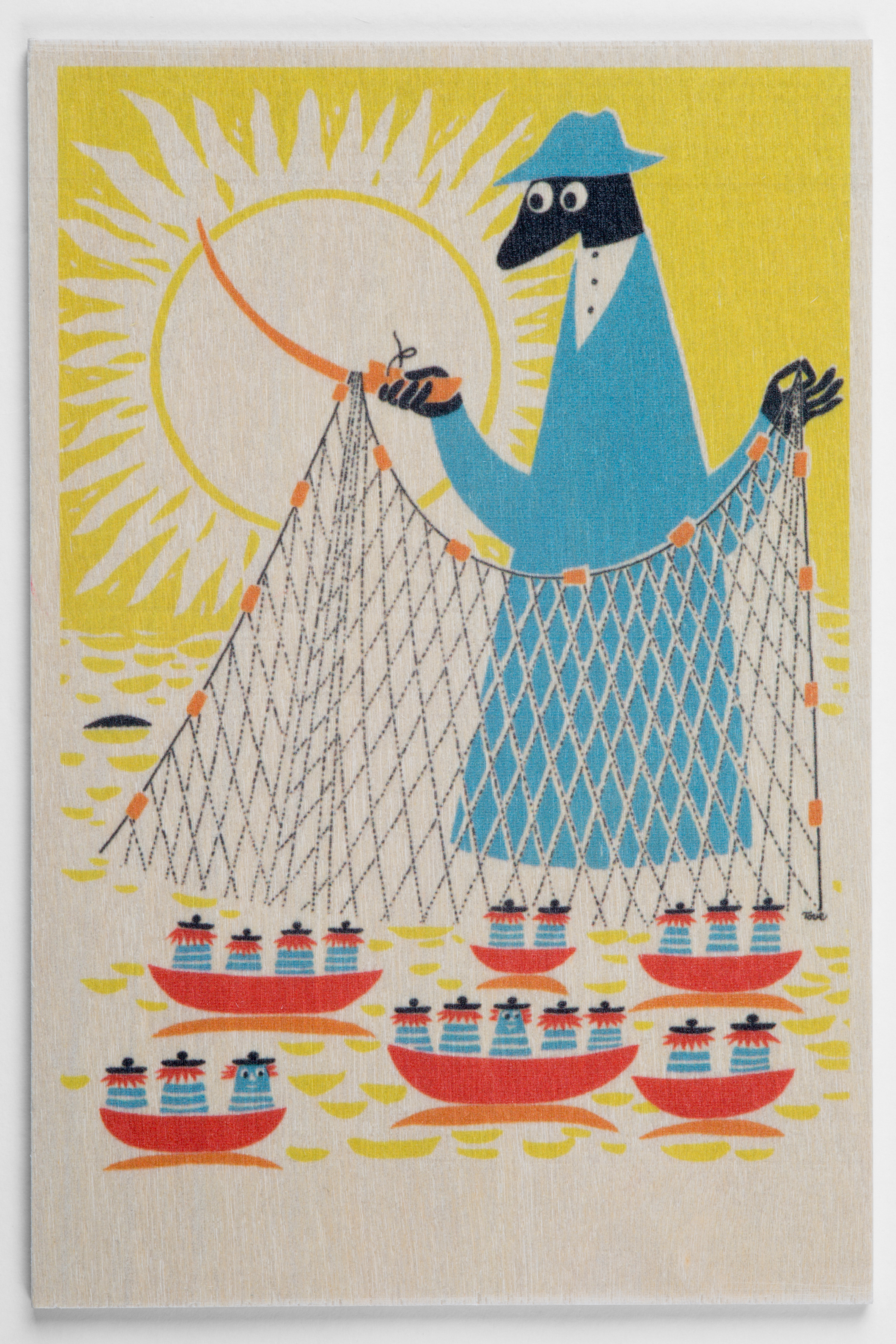 白樺ポストカード 10x15cm ムーミン 「フィッシング」