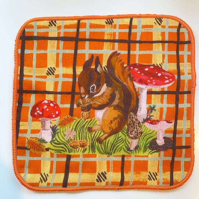 "Nathalie Lete ""Gauze Hand Towel"" Squirrel"