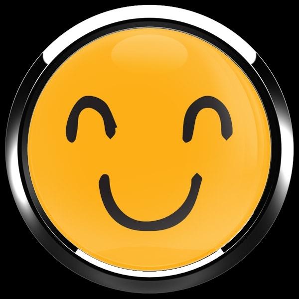 ゴーバッジ(ドーム)(CD1087 - EMOJI SMILE HAND DRAWING 2) - 画像3