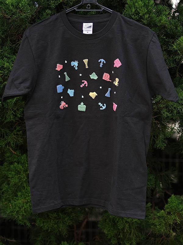 立体プリントTシャツ 神戸モチーフ 黒