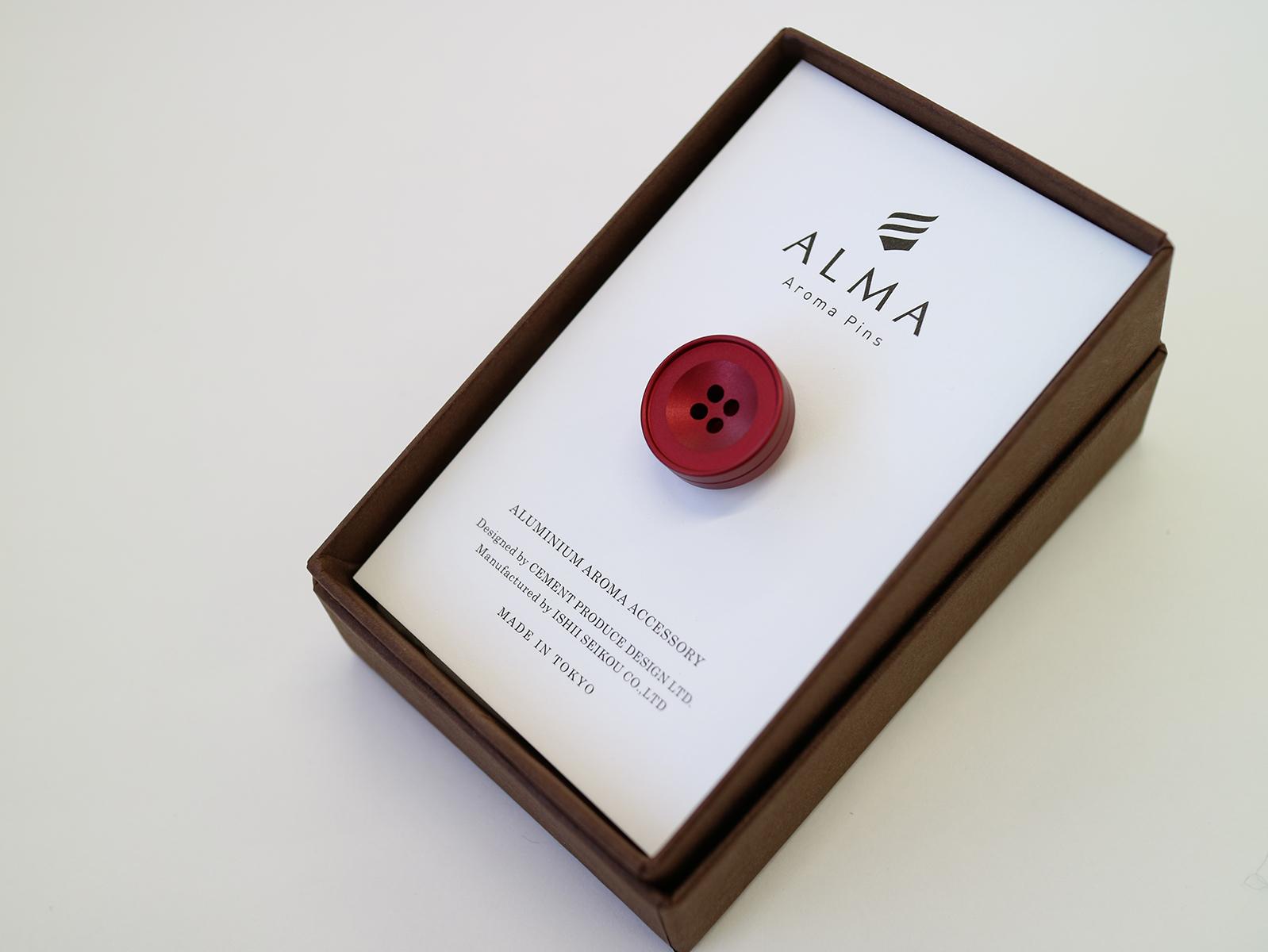 ALMA ~Aroma Pins~   mat red