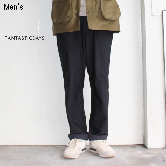 FANTASTICDAYS タックイージーパンツ HOLIDAY-M-63-01(BLACK) 【Men's】