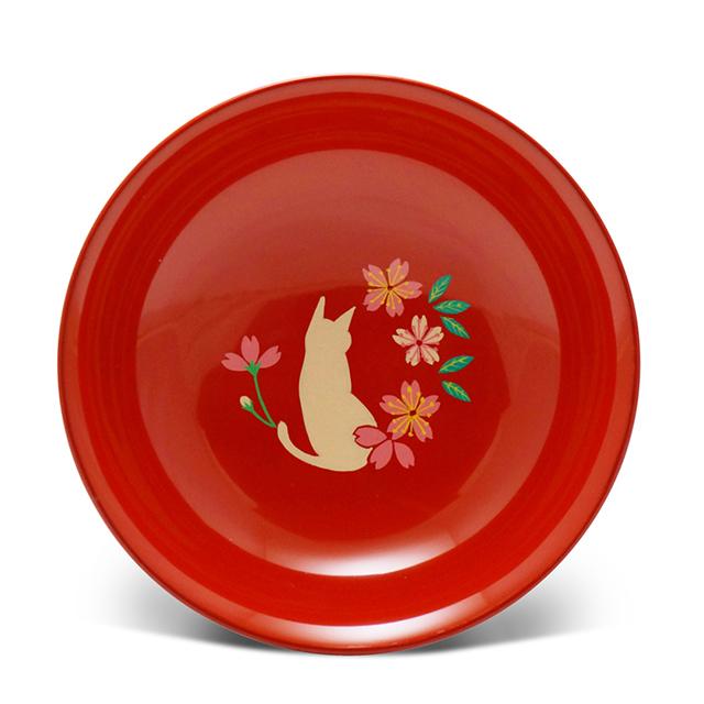 手塩皿4.0洗朱猫さくら(33)