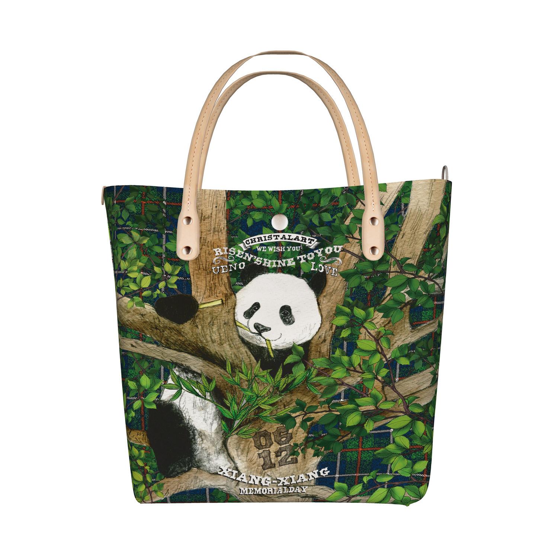 ◆受注生産◆デザイントートバッグ「木登りシャン」柄