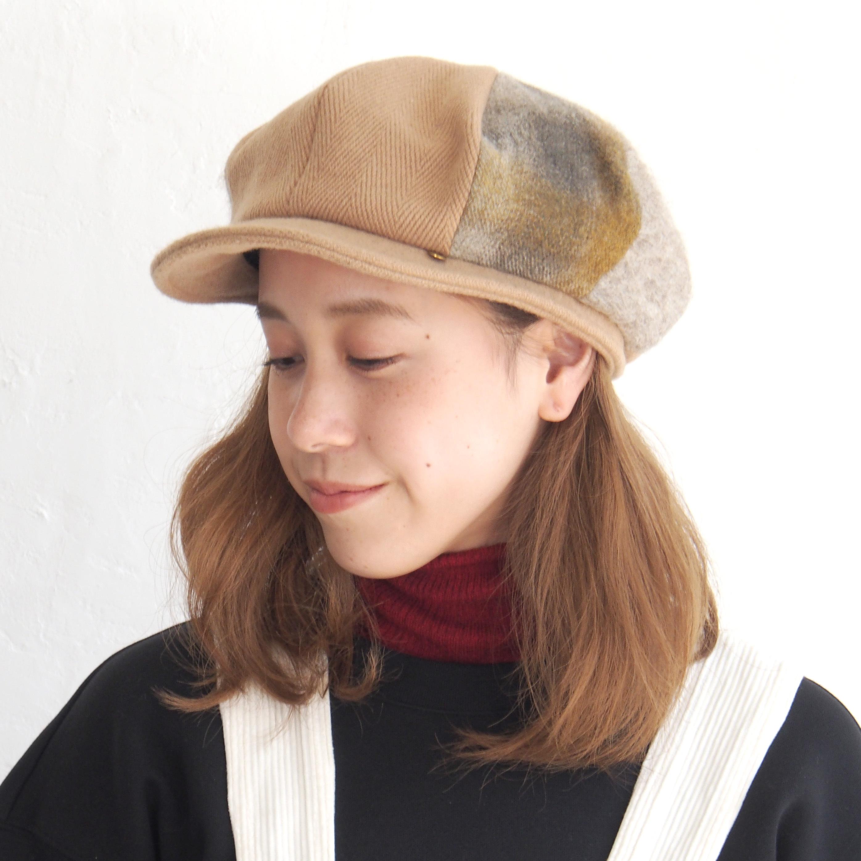 【BuLuKa(ブルカ)】3種掛け合わせキャスケット 88-1834