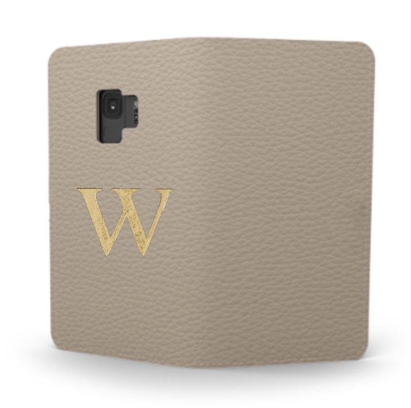 Galaxy Premium Shrink Leather Case (Beige) : Book cover Type