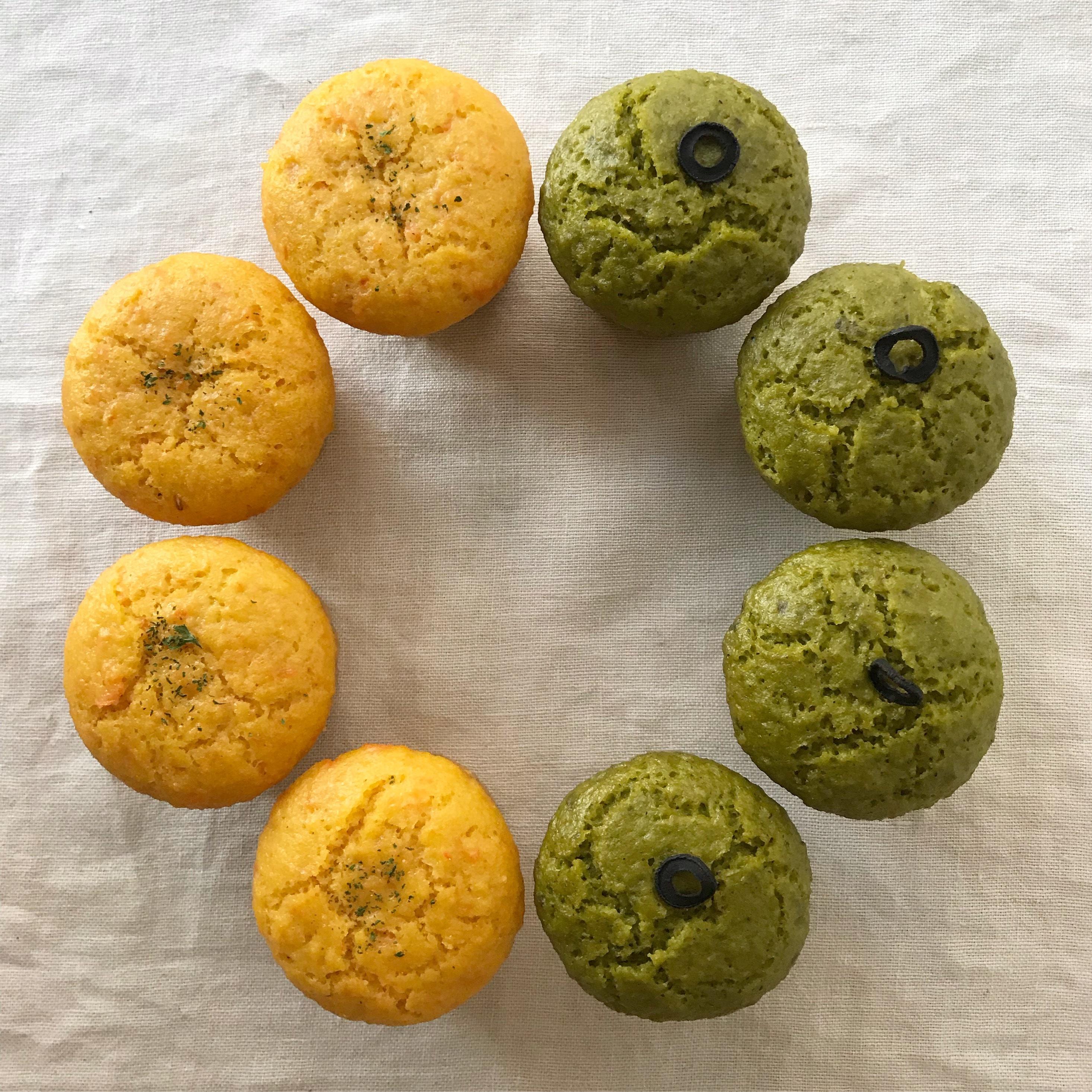 お野菜蒸しまふぃんミニセット にんじんほうれん草(8個入り)