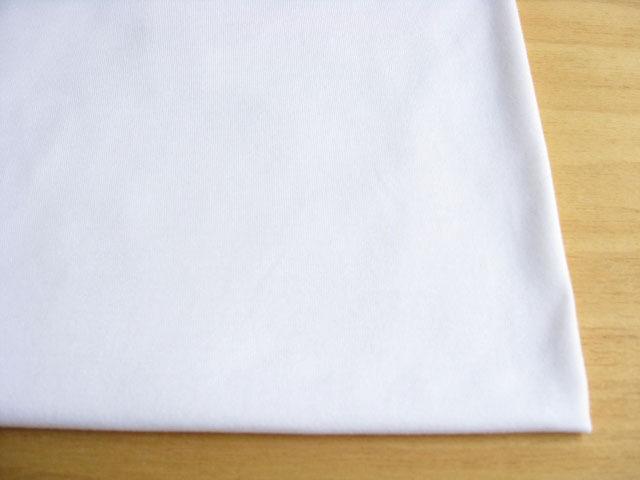 J&B定番 綿コーマ糸40双糸天竺ニット スノーホワイト(真っ白) #01 NTM-2381